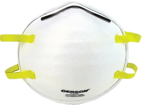 Surgical Mask Png - N95 Surgical Mask White yellow personal protective PNG image with ...