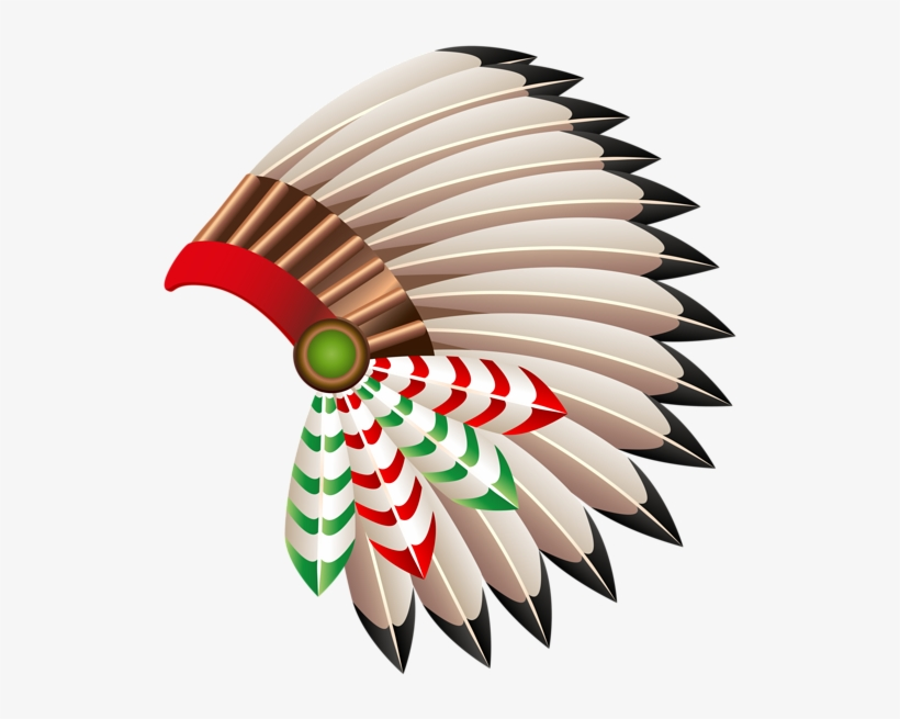 Indian Head Dress Png - Native American Chief Hat Transparent Png Clip Art - Red Indian ...