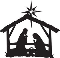 Nativity Scene Silhouette - Nativity Scene Silhouette | nativity silhouettes | Nativity scene ...