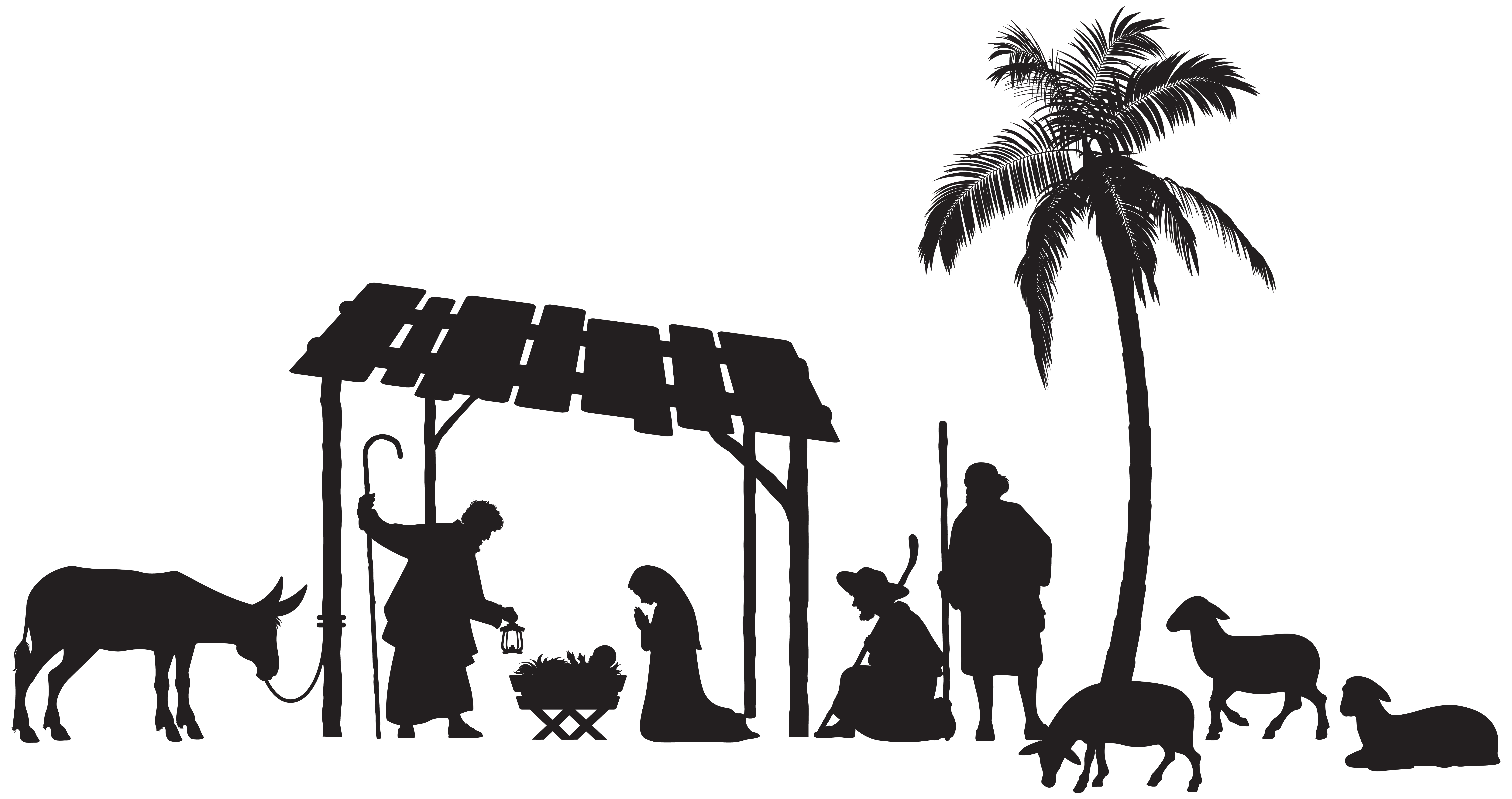 Nativity Scene Silhouette - Nativity Scene Silhouette PNG Clip Art Image | Gallery ...