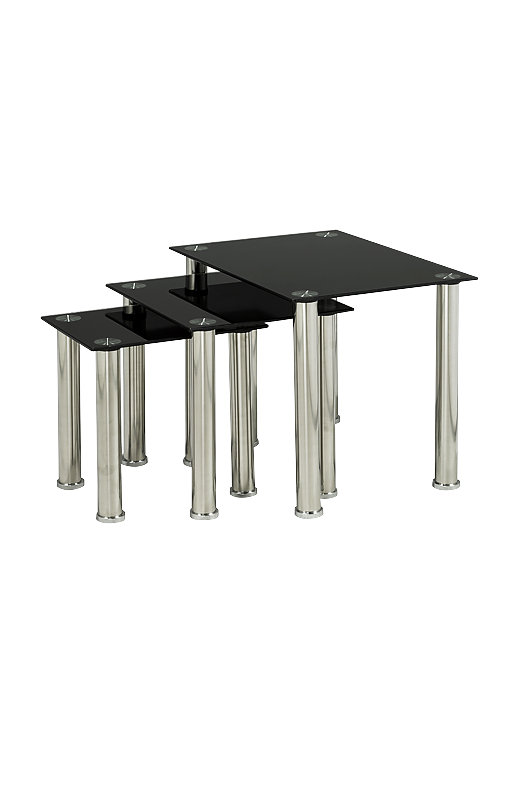Table Gigogne Png - Nesting Table Set with Glass Top - 00340980   EconoMax
