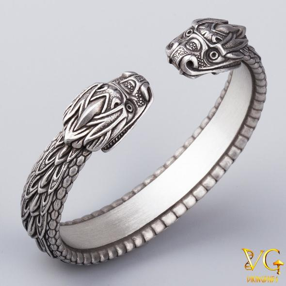 Arm Ring Png - NEW! Arm Ring With Midgard Serpent Jormungandr's Heads | Best of ...