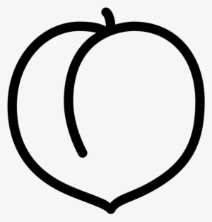 Outline Of Peaches Png Amp Free Outline Of Peaches Png