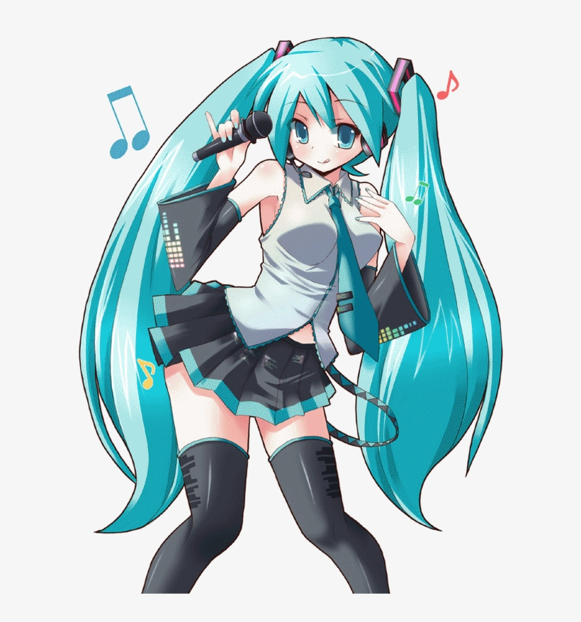Hatsune Miku Transparent - Next - Hatsune Miku Anime Png - Free Transparent PNG Download - PNGkey