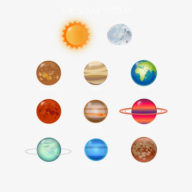 Nine Planets Png - Nine Planets, Hd, Vector, Solar System PNG and Vector for Free ...