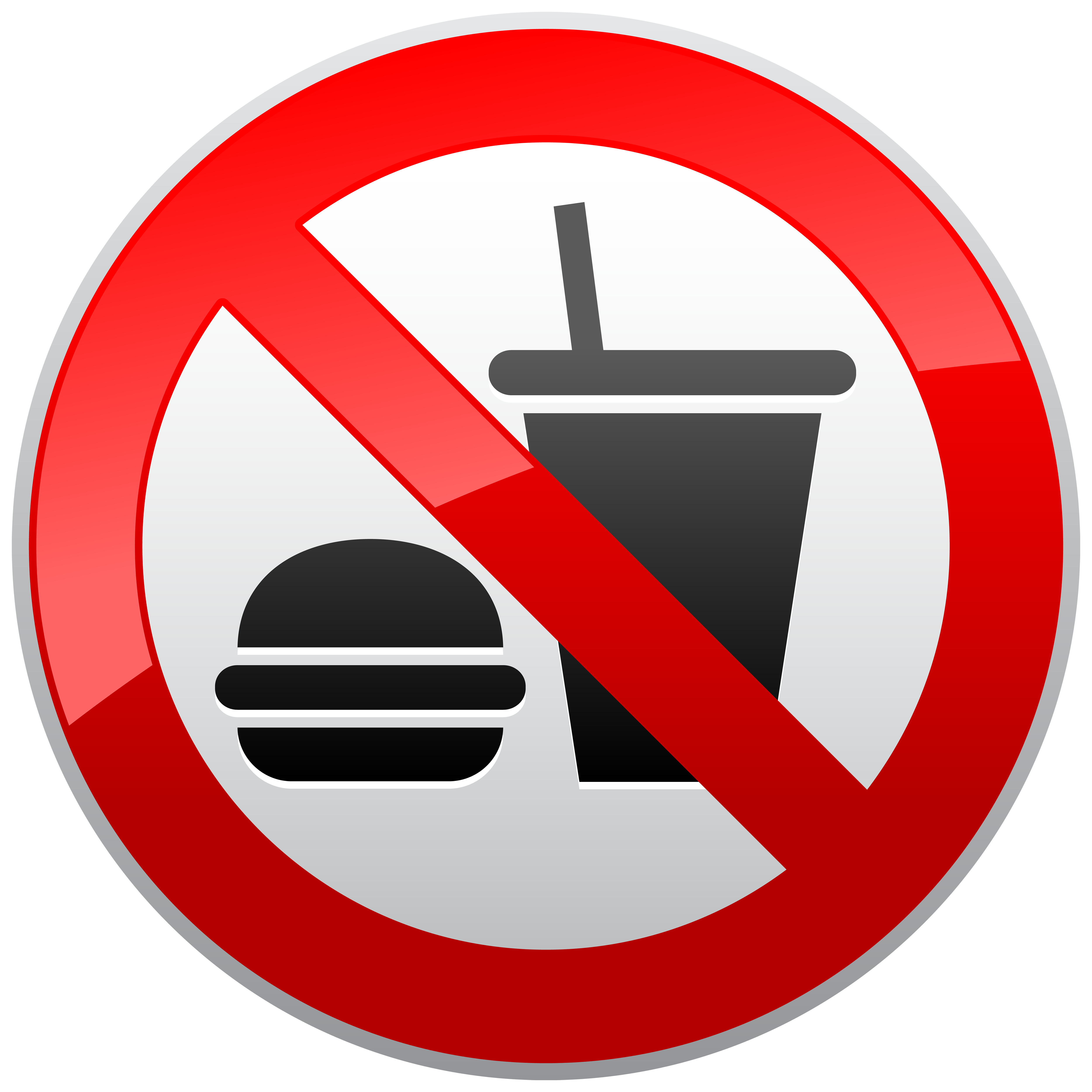 No Sign Png - No Eating or Drinking Prohibition Sign PNG Clipart - Best WEB Clipart