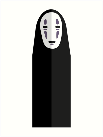 No Face Spirited Away Vector Art Prin 871557 Png Images Pngio