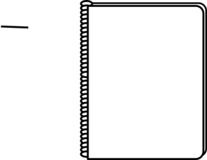 Notebook Black And White Png - Notebook White Clip Art at PNGio - vector clip art online ...
