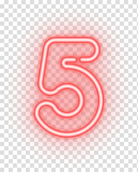 Neon Numbers Png - Number , neon transparent background PNG clipart | HiClipart