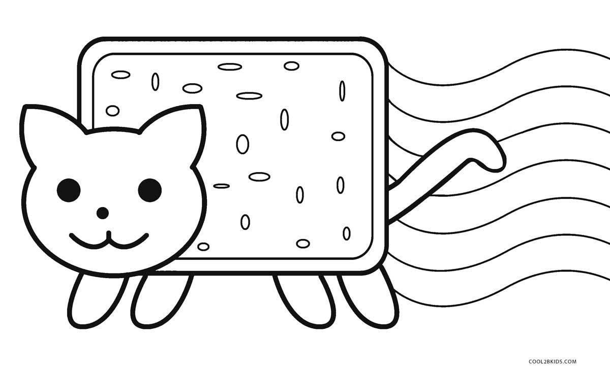 Nyan Cat Coloring Pages Free Nyan Cat Coloring Pages Png