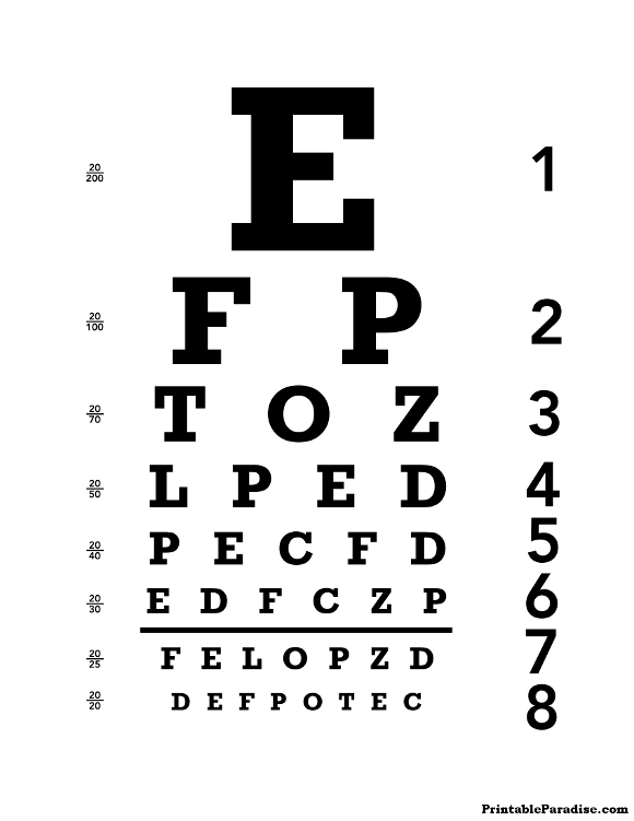 Eye Chart Png Free Eye Chart Png Transparent Images 38569 Pngio