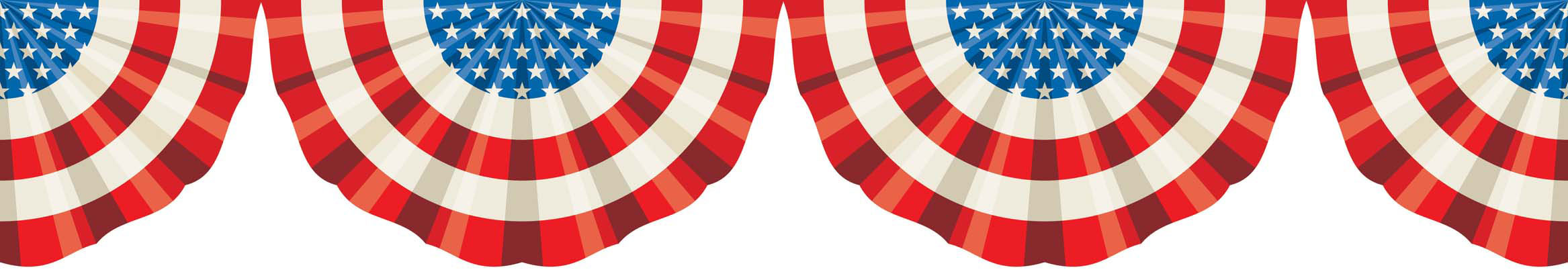 Old Fashioned Patriotic Bunting Png - Old Fashioned Patriotic Bunting Clipart & Clip Art Images #9548 ...
