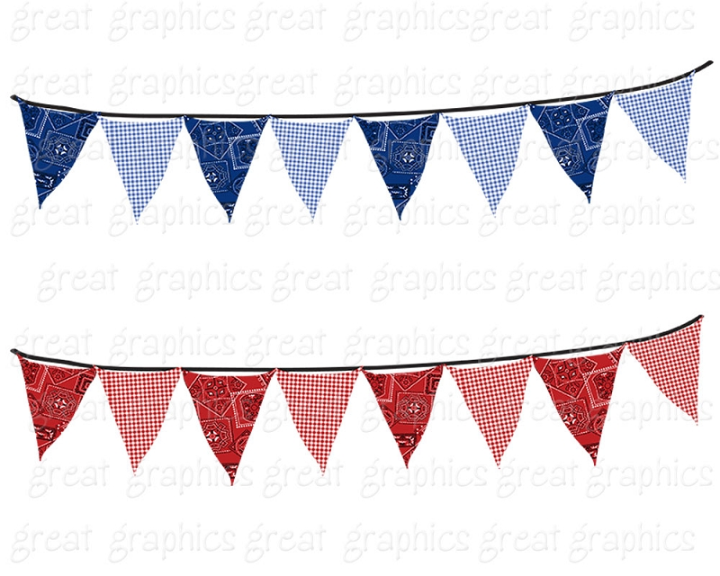 Old Fashioned Patriotic Bunting Png - Old fashioned patriotic bunting clipart - Clip Art Library