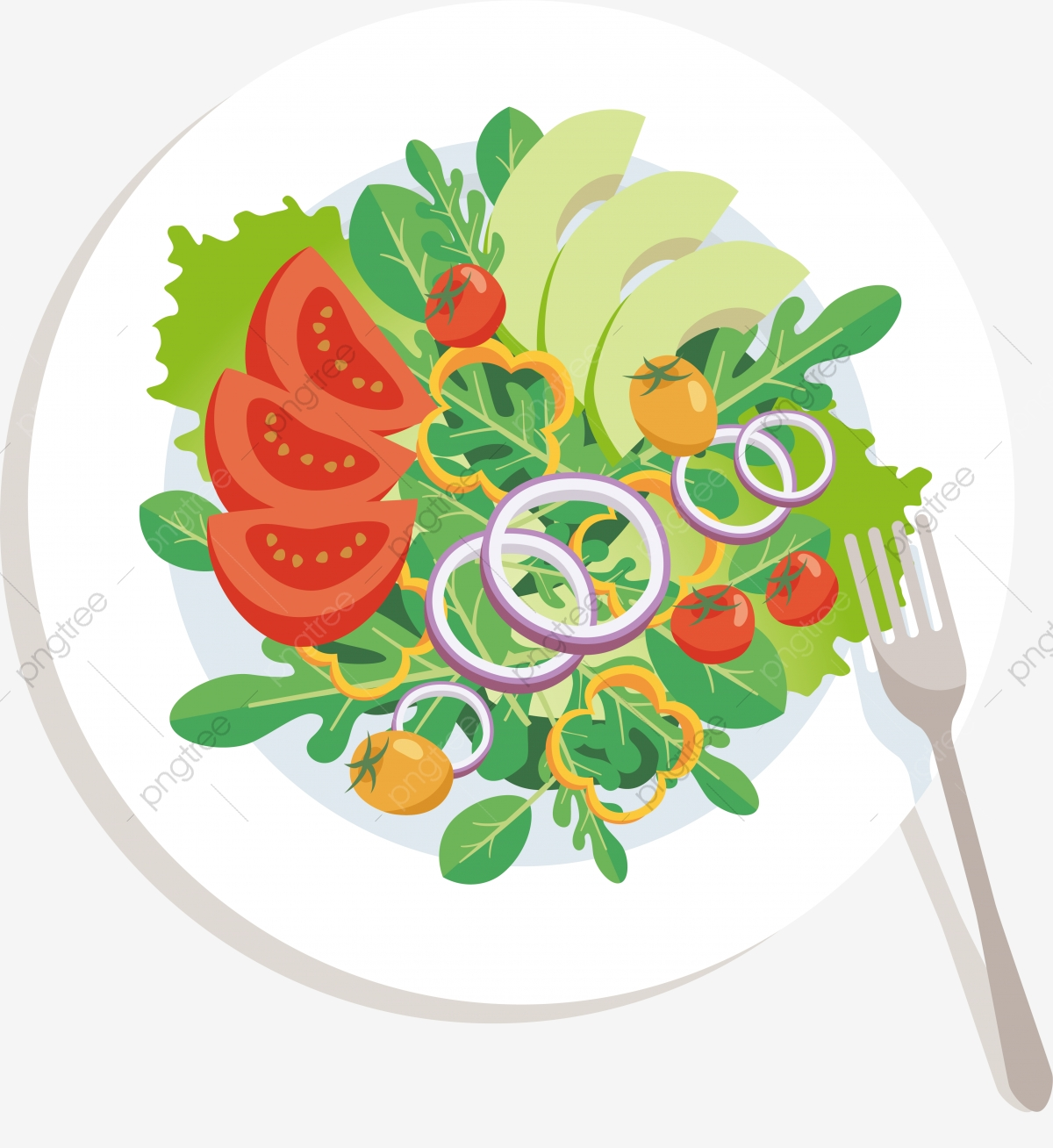 Salad Vector Png - Olive Oil Salad Photography Lettuce, Western Food, Tomato ...