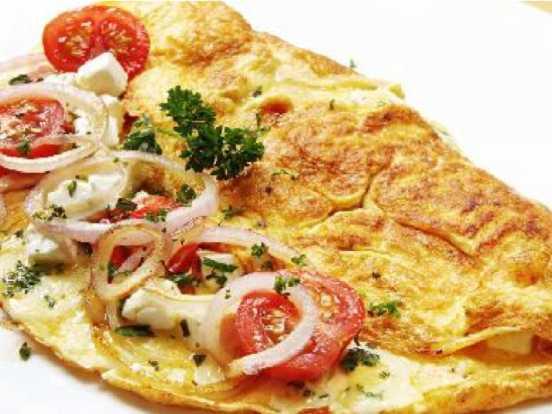 Omelet Png - Onion and Tomato Omelet