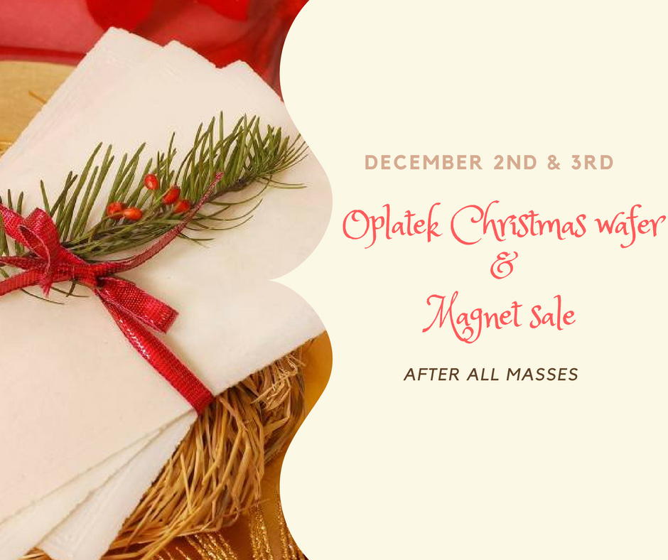 Christmas Wafer Png - Oplatek Christmas wafer and magnet sale – St. Isidore Church