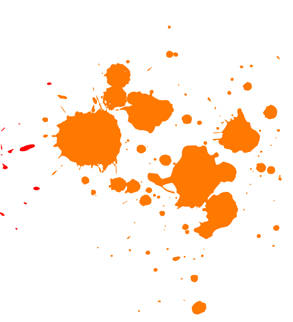 Transparent Paint Splatter - Orange Paint Splatter transparent PNG - StickPNG