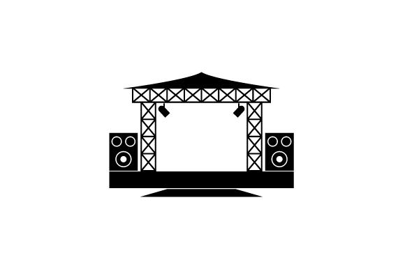 Stage Vector Png - Outdoor Concert Stage Vector Icon (Graphic) by tutukof · Creative ...