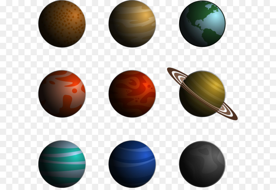 Solar System Png - Outer planets Saturn Solar System - Universe planets