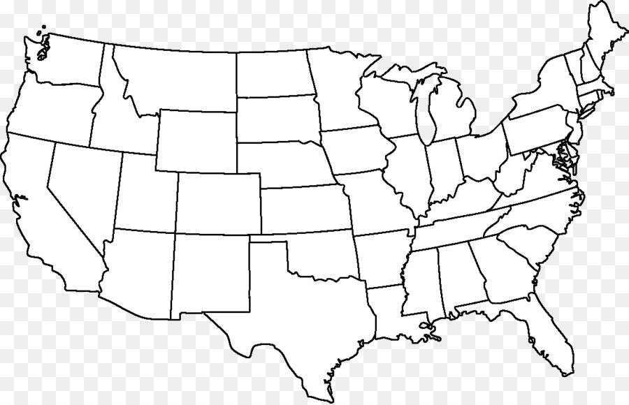 Outline Of The United States Blank Map A #398494 - PNG ...