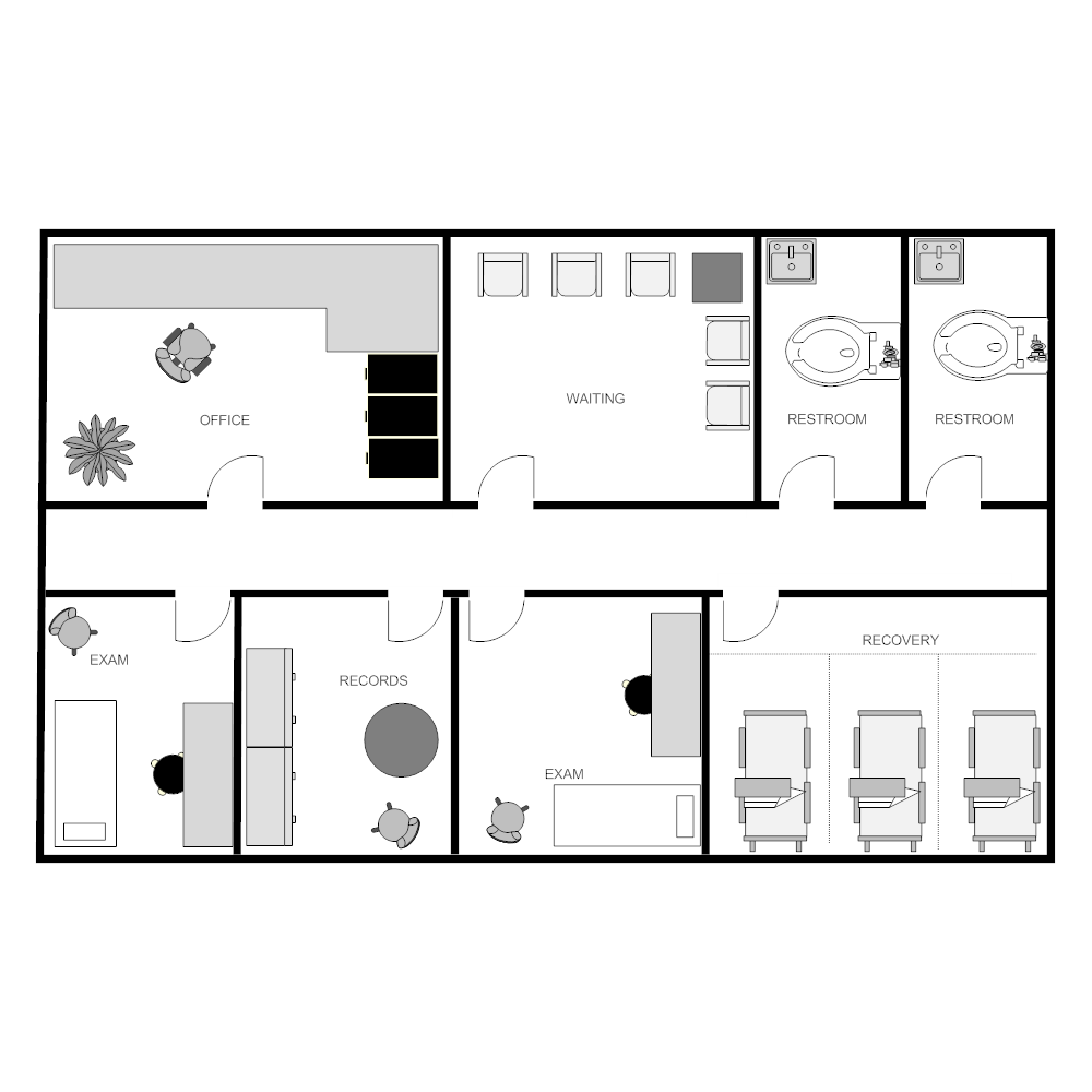 Outpatient Clinic Facility Plan 2061556 Png Images Pngio