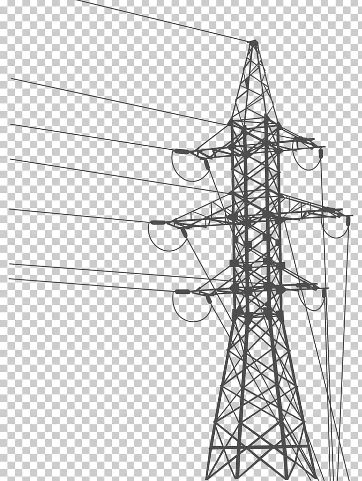 Electrical Grid Png - Overhead Power Line Electric Power Transmission Transmission Tower ...