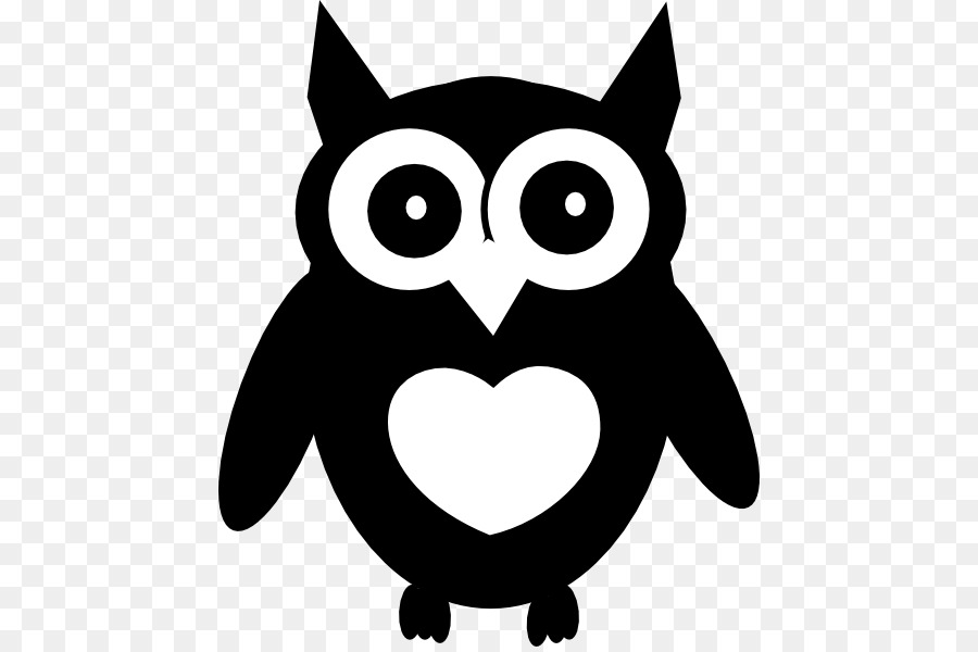 Wise Owl Png Black And White & Free Wise Owl Black And ...