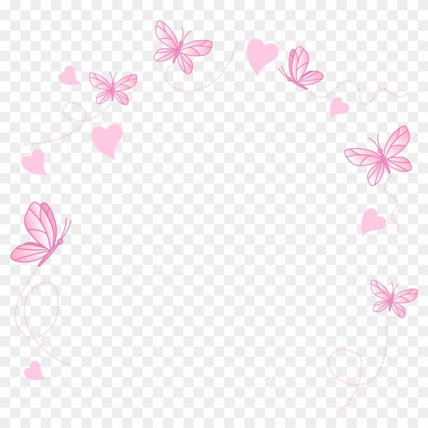 Rainbow Butterfly Png Border - Painted Border Vector Butterfly - Cute Teddy Bears