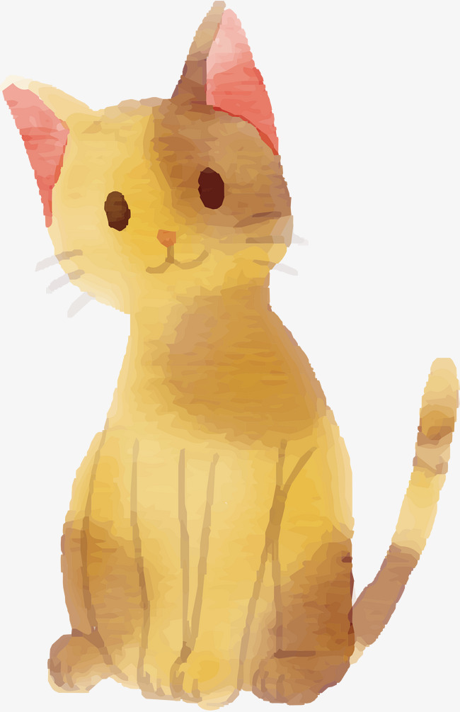 Yellow Cat Png - painted yellow cat, Cat Vector, Vector Png, Kitty PNG and Vector