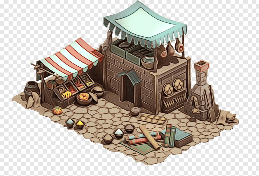 Video Game Graphics Png - Painting, Middle Ages, Building, Isometric Video Game Graphics ...