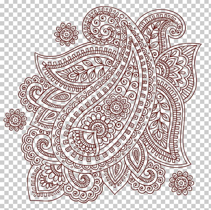 Henna Doodles Png - Paisley Mehndi Doodle PNG, Clipart, Borders, Geometric Pattern ...