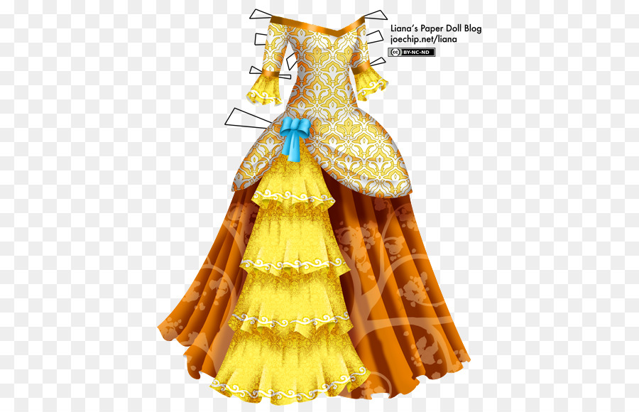 Doll Dress Png Images - Paper doll Ball gown Dress - yellow dress png download - 475*579 ...