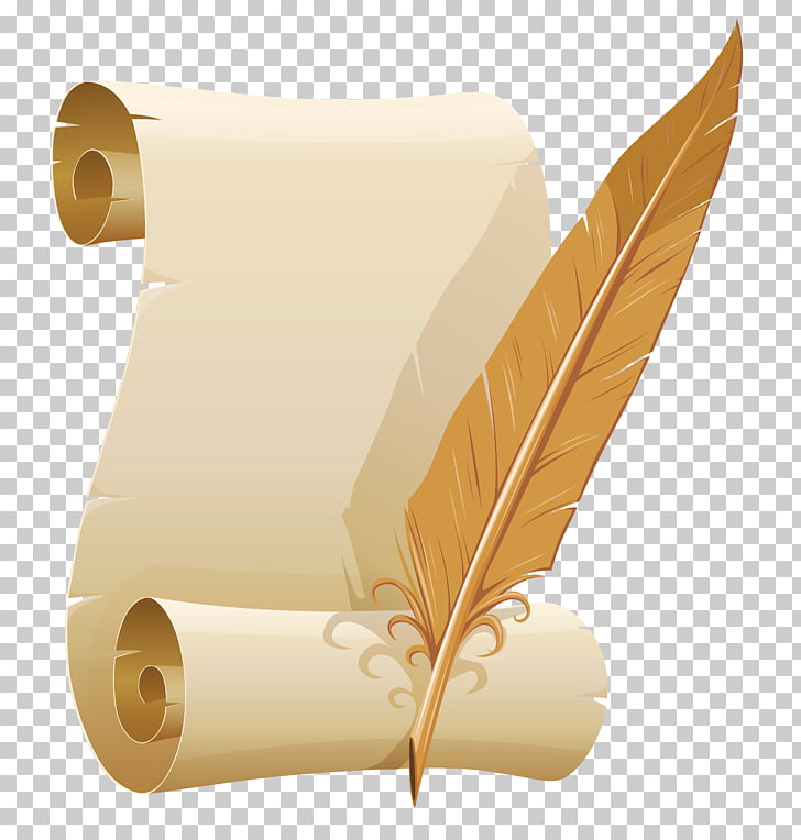 Quill Corp Png - Paper Quill Corp Ink, Scrolled Paper and Quill Pen , letter and ...
