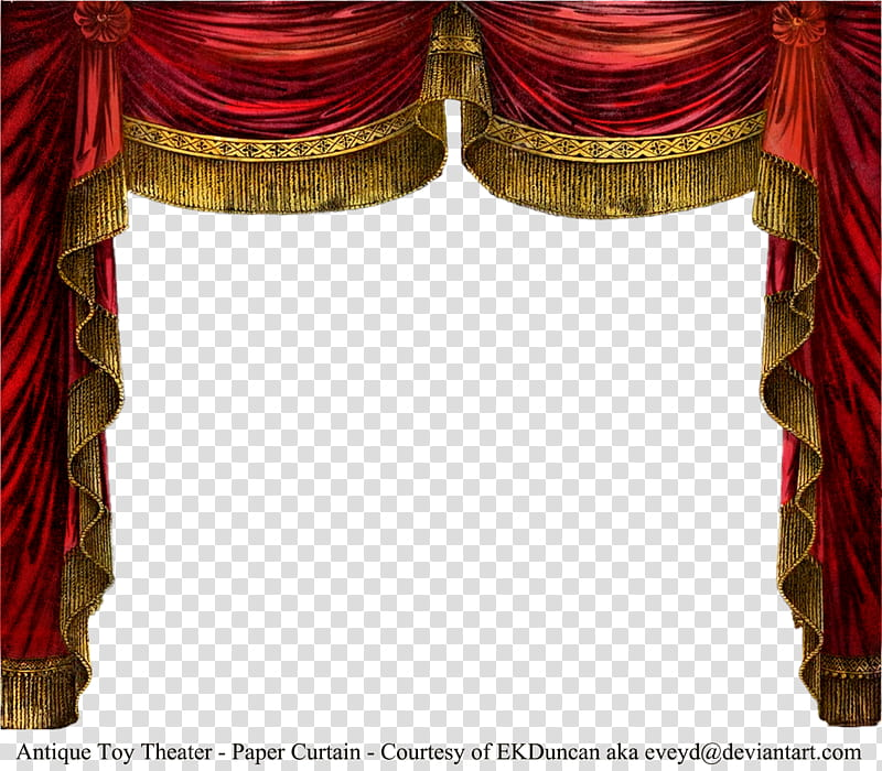 Theater Backgrounds Png - Paper Theater Curtain Ruby, red curtain transparent background PNG ...