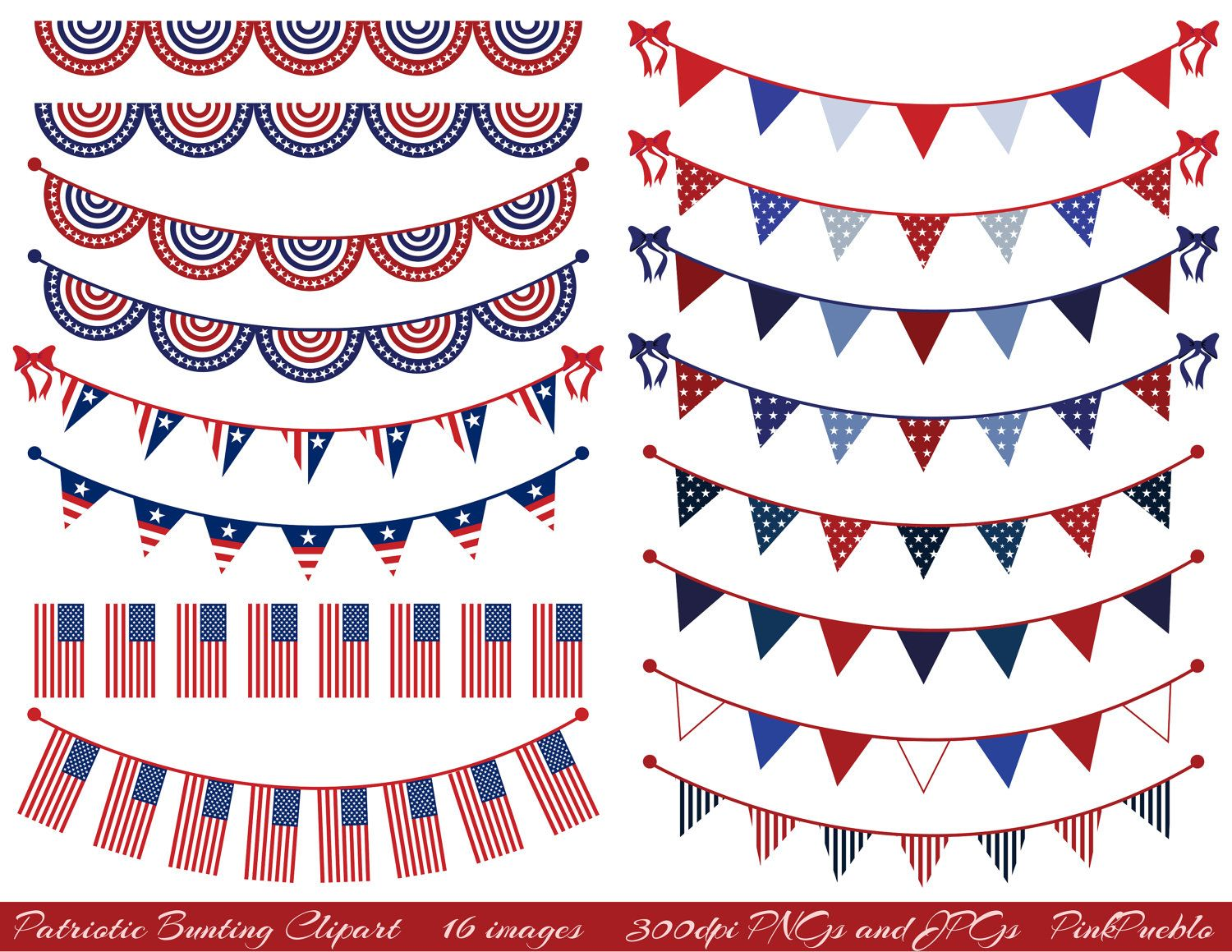 Old Fashioned Patriotic Bunting Png - Patriotic Bunting Clipart Clip Art, Fourth of July Flag Clipart ...