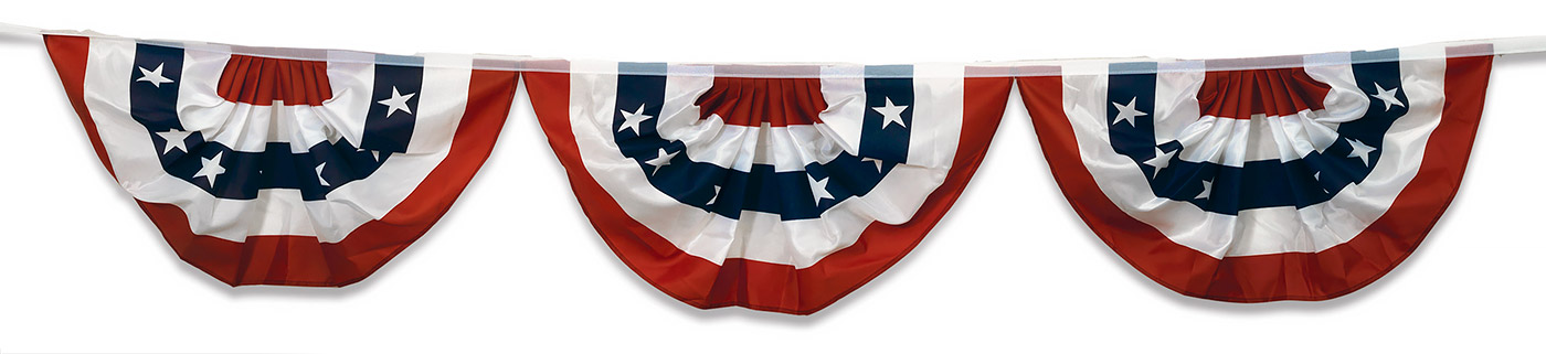 Old Fashioned Patriotic Bunting Png - Patriotic Bunting, Flags, & Fabric | Traditions