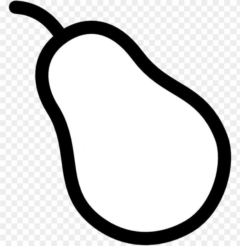 Pear Outline Png - pear outline PNG image with transparent background | TOPpng
