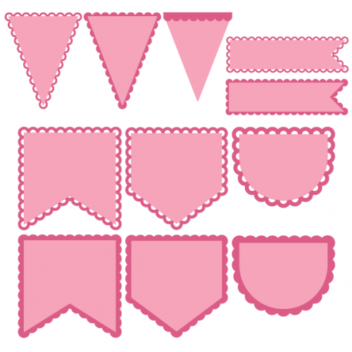 Pennant Banner Svg Png - Pennant Shapes   Bunting template, Cricut banner