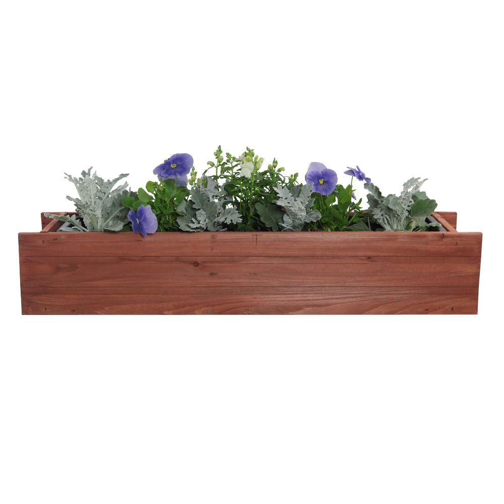 Window Box Png - Pennington 24 in. x 7 in. Wood Window Box-100045124 - The Home Depot