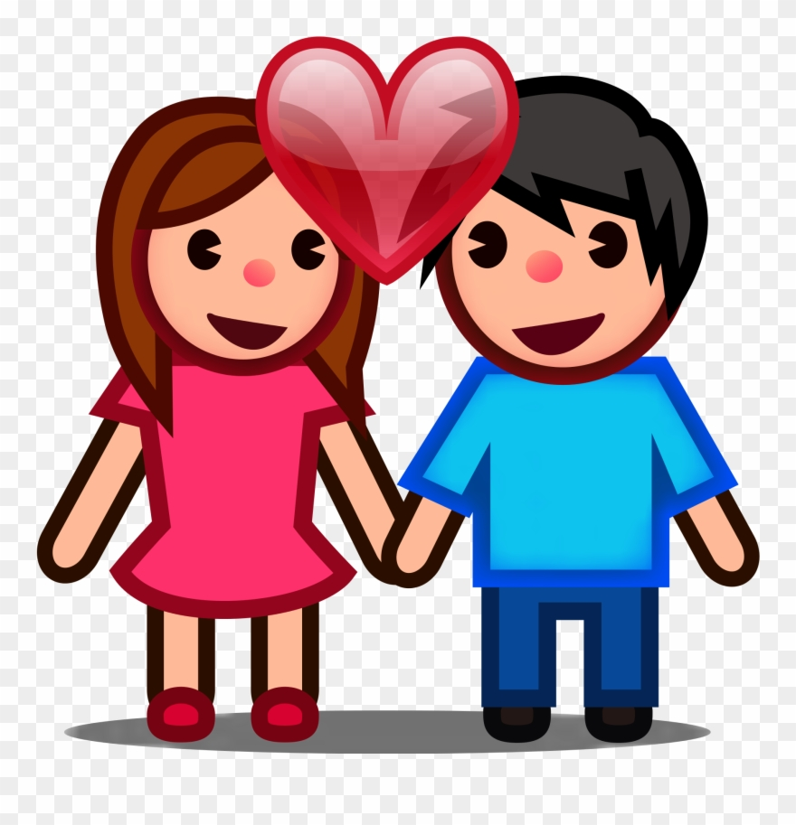 Couple In Love Png - Peo-couple In Love - Couple Emoji Png Clipart (#891318) - PinClipart