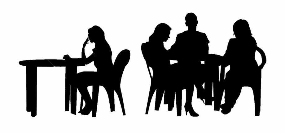Table Silhouette Png - People Sitting At A Table Png - People Sitting Silhouette Png ...