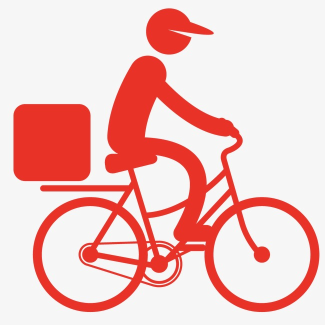 Delivery pasta Man On Bike & Free Delivery Man On Bike.png ..