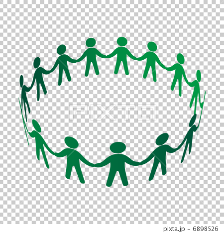 Circle Of People Holding Hands Png - People who join hands and build circles - Stock Illustration ...