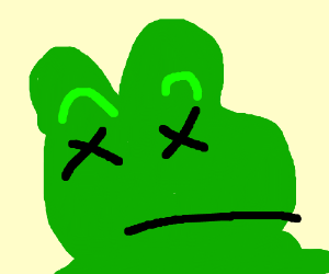 Dead Frog Png - pepe the frog is dead