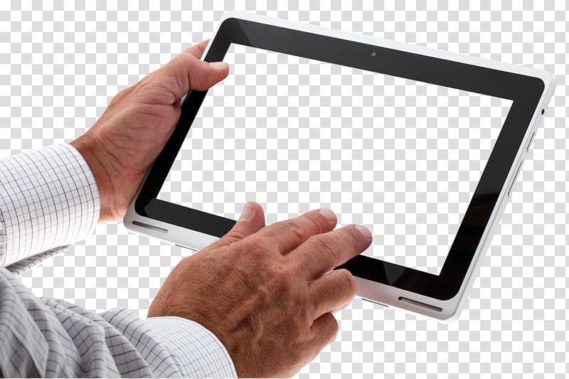 Ipad Hand Png - Person holding black Android tablet, iPad Graphics tablet ...
