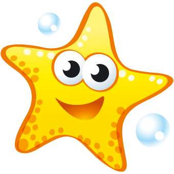 Animated Starfish Png - PERSONALISED PLASTIC MEDALS