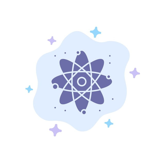 Physics Background Png - Physics React Science Blue Icon On Abstract Cloud Background, Atom ...