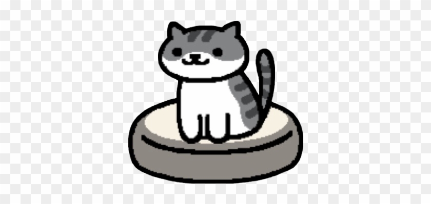 Pickle Png Black And White - Pickles Sitting On The Black And White Cushion - Neko Atsume Cats ...