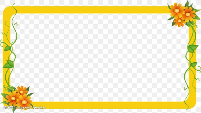 Yellow Frame Png - Picture Frame Daum, PNG, 1001x567px, Picture Frame, Area, Blog ...