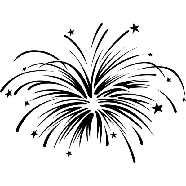 Firework black. Firecracker png and white